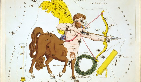 1_Sidney_Hall_-_Urania's_Mirror_-_Sagittarius_and_Corona_Australis,_Microscopium,_and_Telescopium