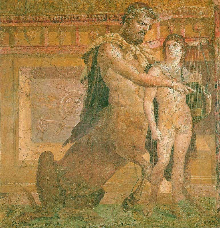 Chirone istruisce Achille, Museo archeologico nazionale di Napoli