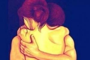 Abbraccio amanti