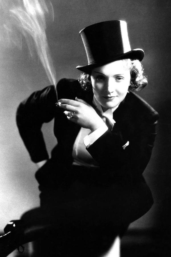 "Marlene Dietrich in ""Marocco"""