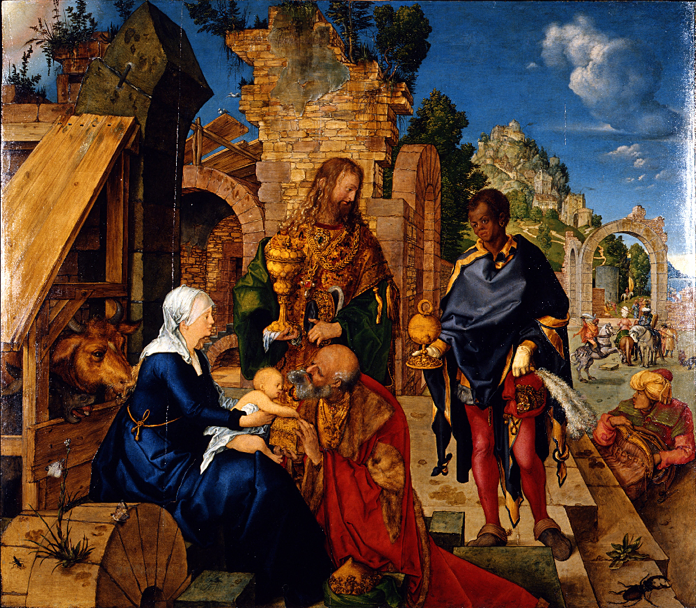 Albrecht Durer, Adorazione dei magi, Galleria degli Uffizi, Firenze