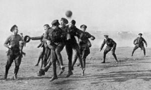 Partita di calcio in occasione della Tregua di Natale