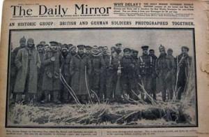 La Tregua di Natale in una foto del Daily Mirror