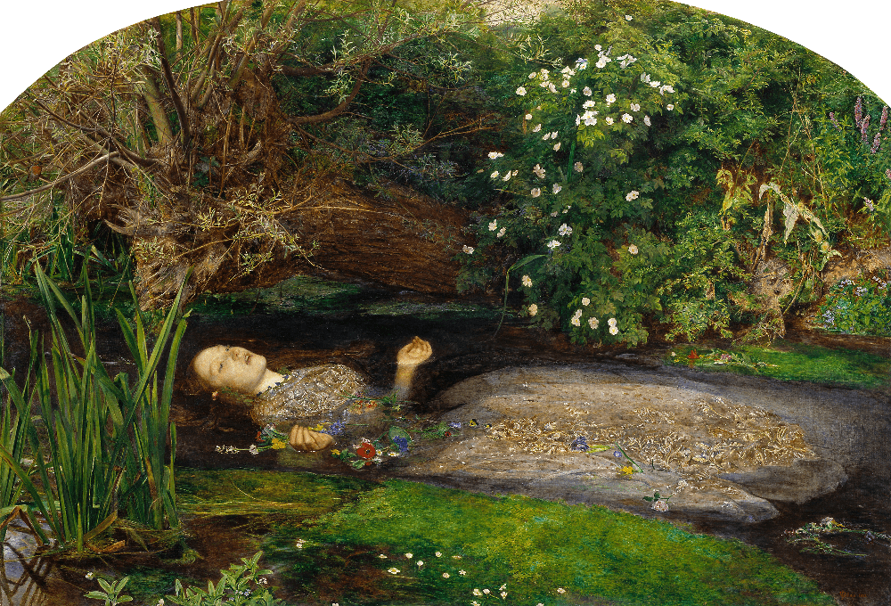 John Everett Millais, Ophelia, Tate gallery, Londra