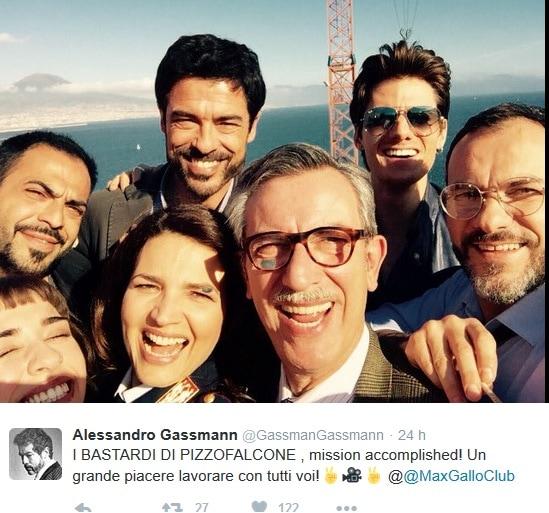 Alessandro Gassman fesateggia su twitter il successo di I Bastardi di Pizzofalcone
