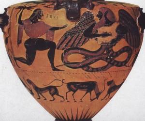 Hydria con Tifone e Zeus, Collezioni Nazionali di Oggetti Antichi, Monaco