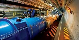 Parte dell'acceleratore di particelle LHC del CERN di Ginevra