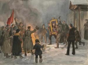 Ivan Vladimirov, Incenerimento delle aquile e dei ritratti degli zar