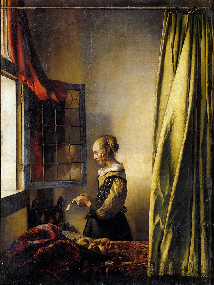 Ragazza che legge una lettera, Gemäldegalerie, Dresda