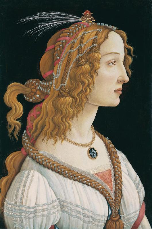 Sandro Botticelli, ritratto postumo di Simonetta Vespucci,  Städelsches Kunstinstitut, Francoforte
