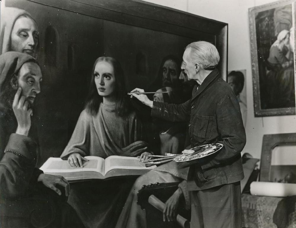 Han van Meegeren dipinge  Cristo tra i dottori