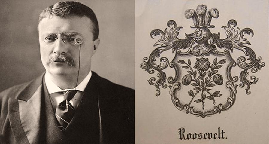 Theodore Roosevelt e lo stemma di famiglia