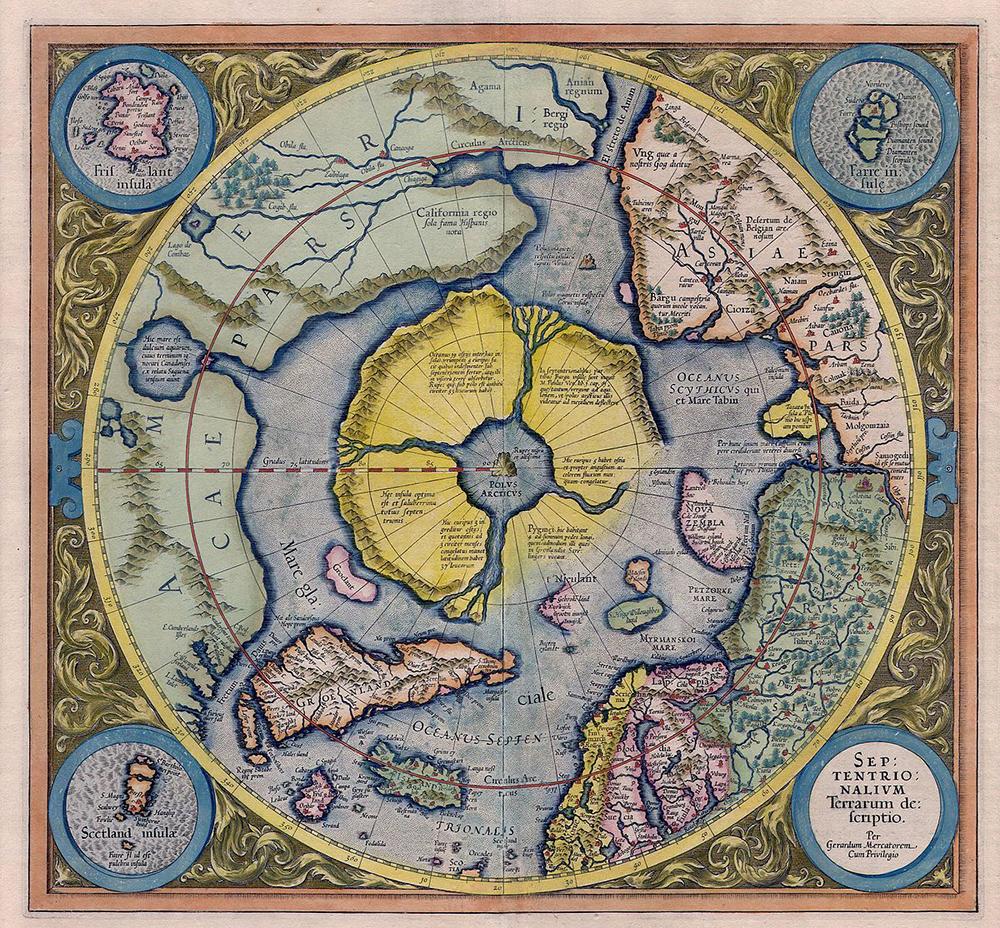 Mappa di Iperborea di Gerardo Mercatore del 1569