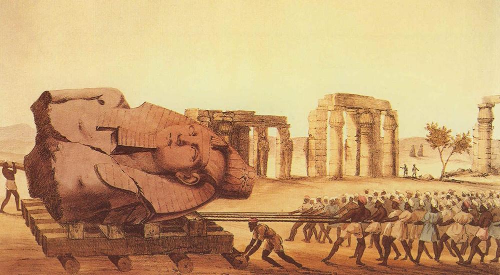Trasporto della statua di Ramses