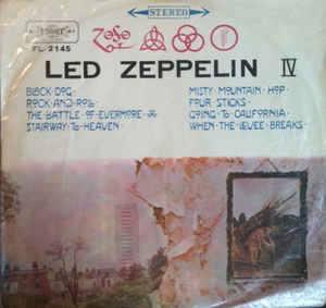 Sulla copertina dell'LP di Led Zeppelin IV campeggiano i quattro simboli