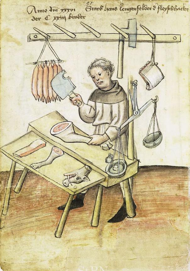 Hans Lengenfelder, un macellaio, XV secolo