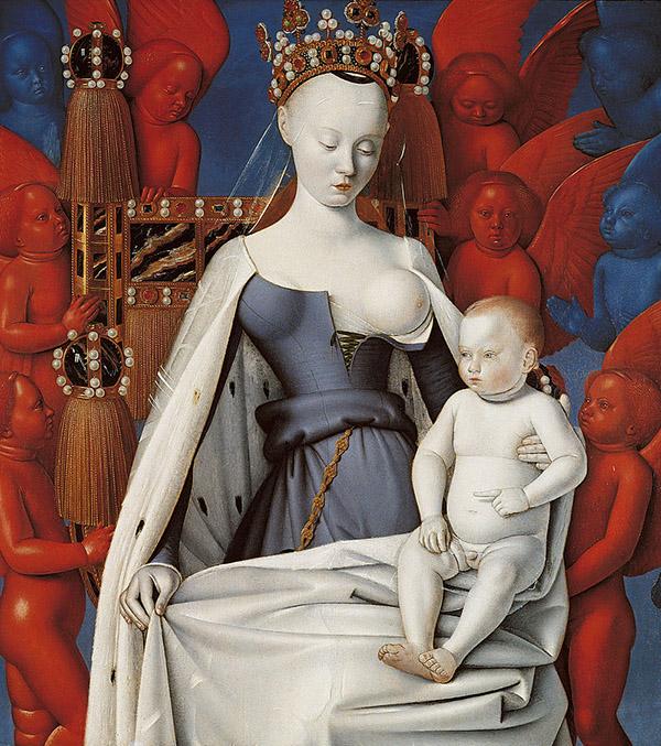 Jean Fouquet, Madonna del latte, dittico di Melun