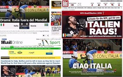 Non so se avete letto i giornali, ma l'Italia ai prossimi mondiali proprio non ci sarà