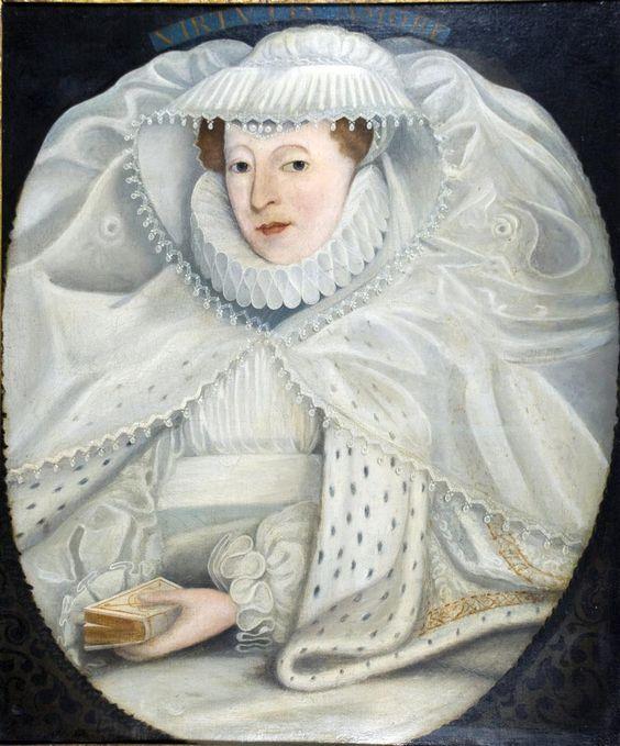 Maria di Scozia in abito da lutto bianco