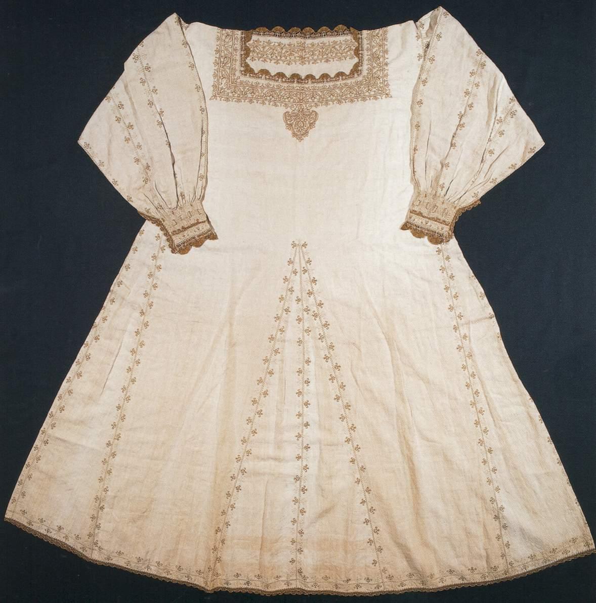 Camicia, XVI secolo