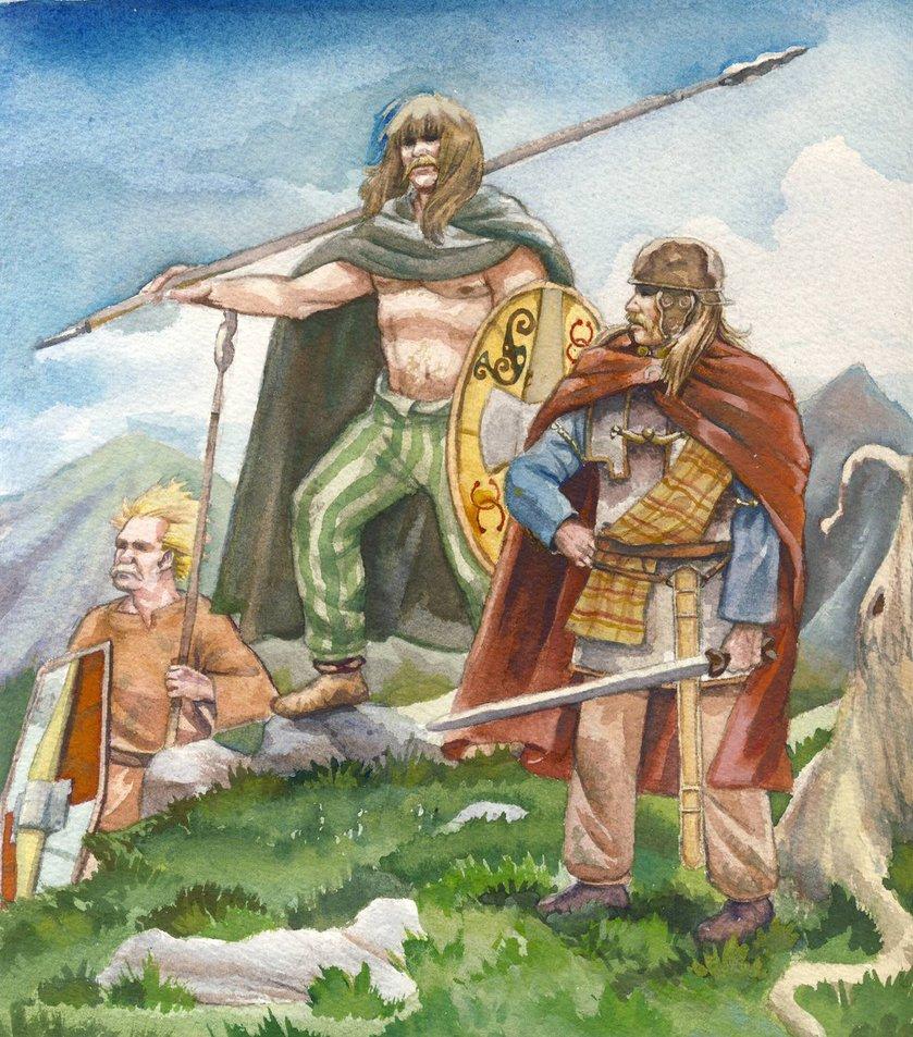 Guerrieri celti, illustrazione di Matthew Klaas de Witte