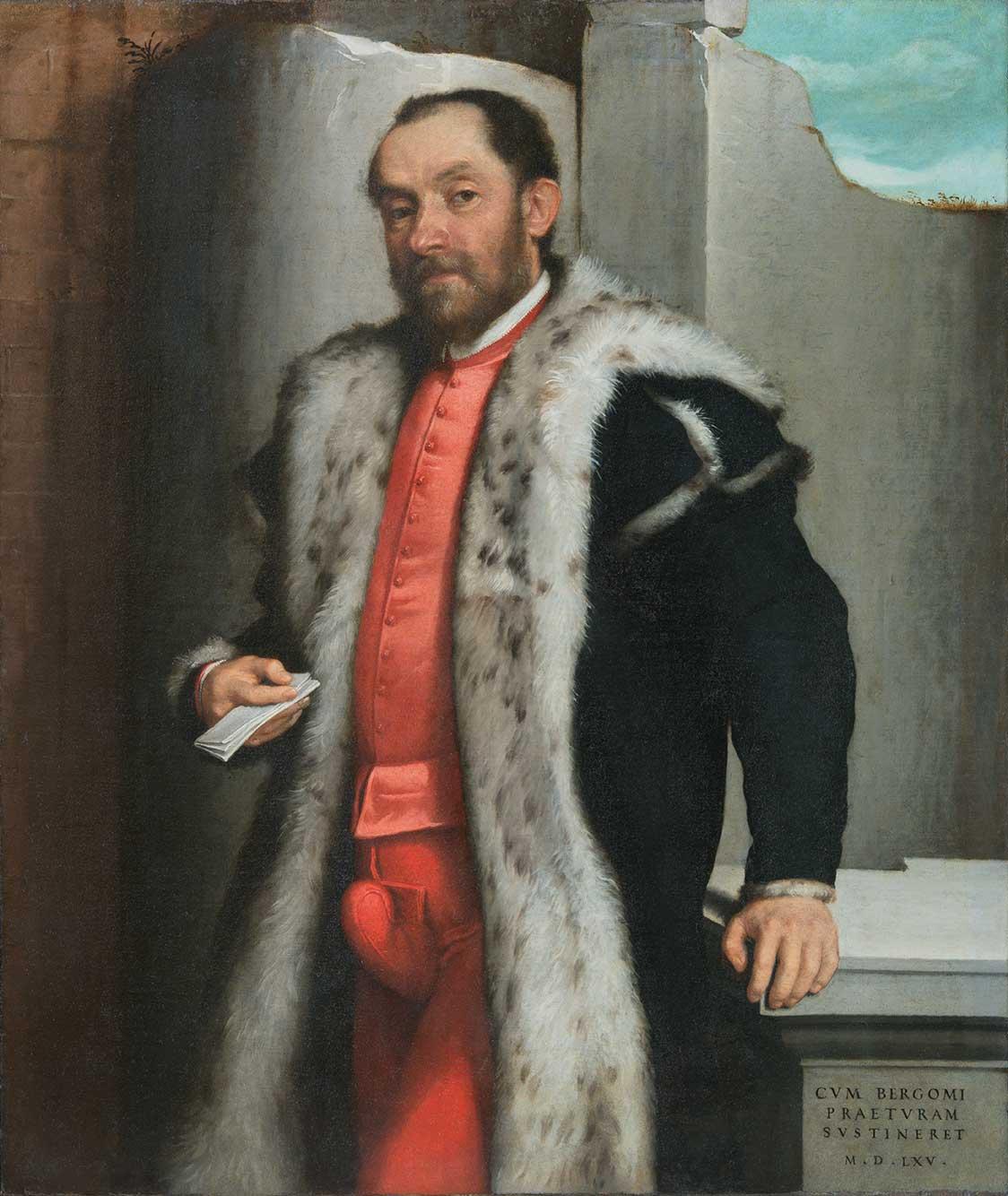 Giovan Battista Moroni, Ritratto di Antonio Navagero