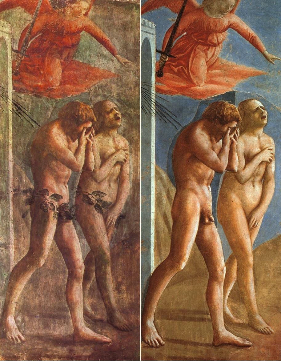 Masaccio. La cacciata dal paradiso prima e dopo il restauro