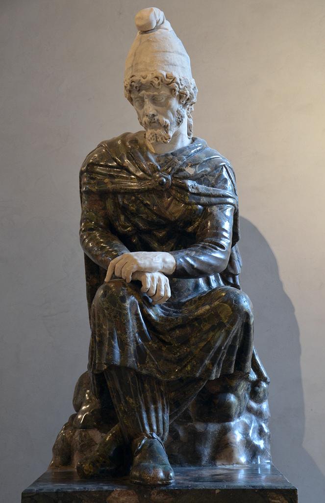 Barbaro prigioniero. Scultura del I -II secolo d.C