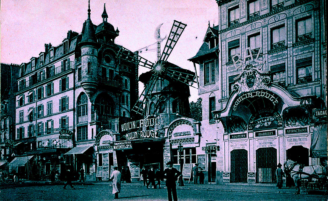 Il Moulin Rouge alla fine dell'Ottocento