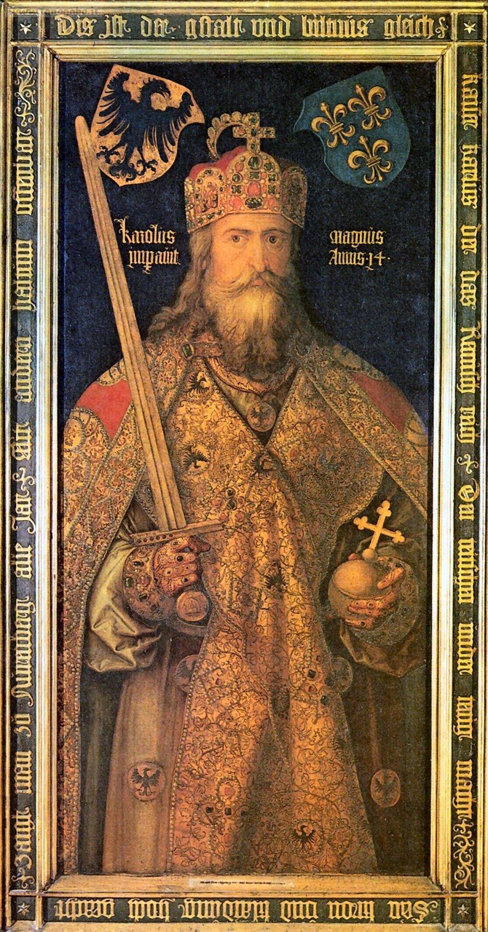 L'imperatore Carlomagno in un ritratto postumo