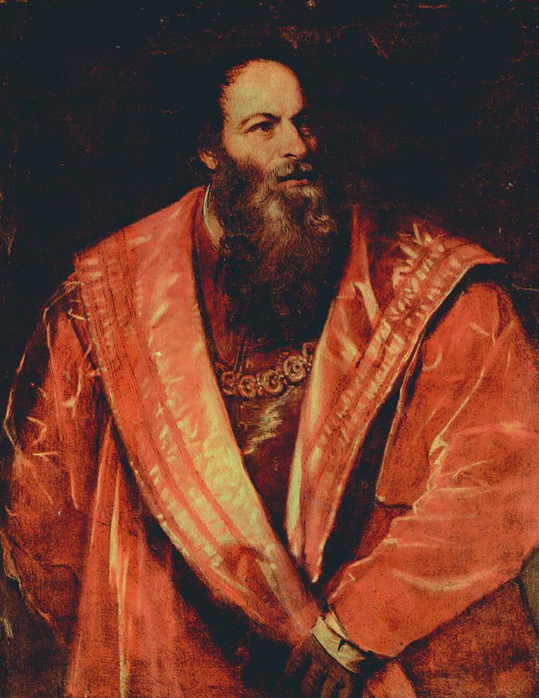 Tiziano, ritratto di Pietro Aretino