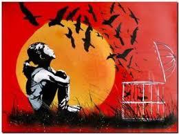 street art sunset