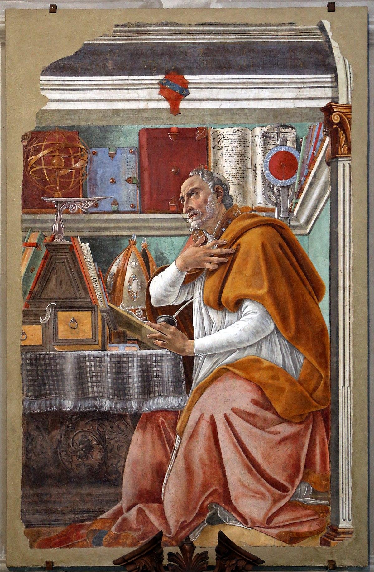 Sant'Agostino nell studio