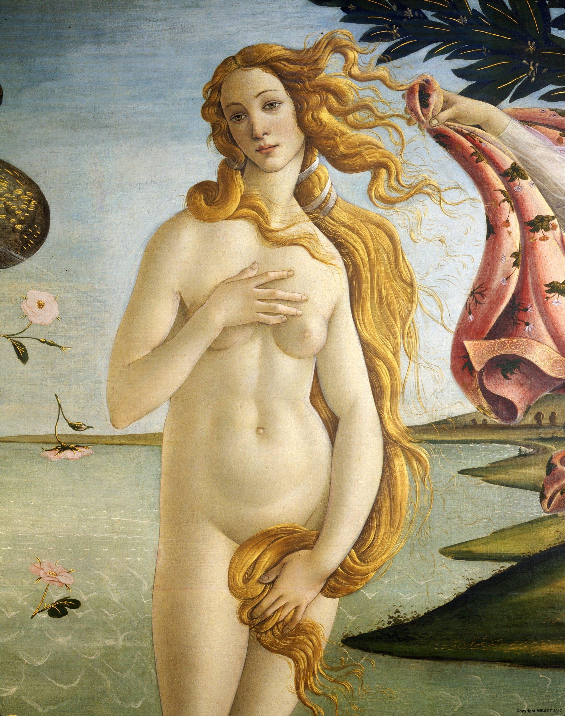La nascita di Venere, particolare