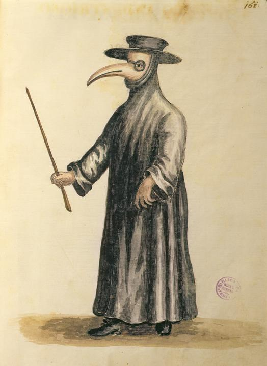 Giovanni Grevenbrock. Maschera del medico della peste