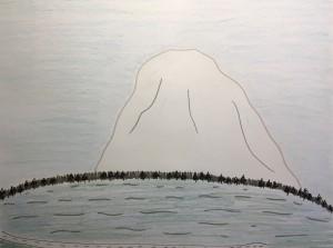 Mt. Rainier (across Lake Mercer)