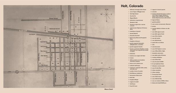 """La mappa di Holt allegata a """"Le nostre anime di notte"""""""