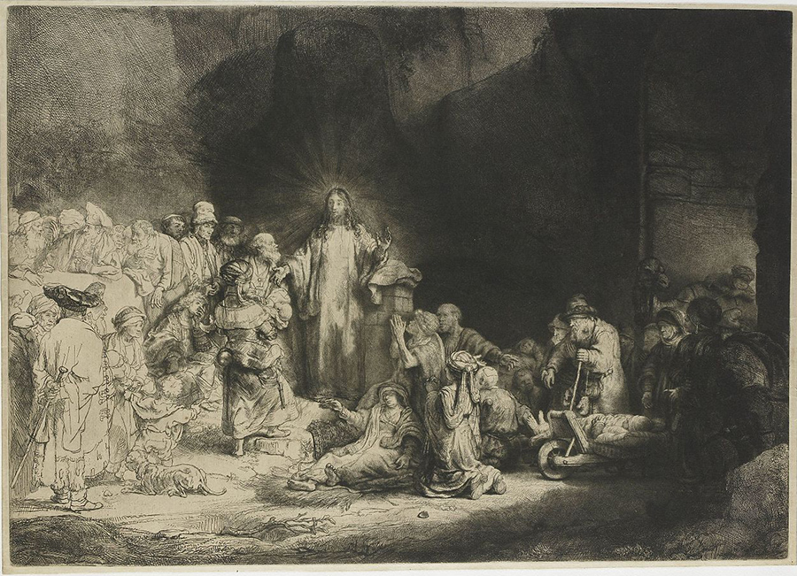 La stampa dei cento fiorini (Cristo che guarisce gli ammalati)