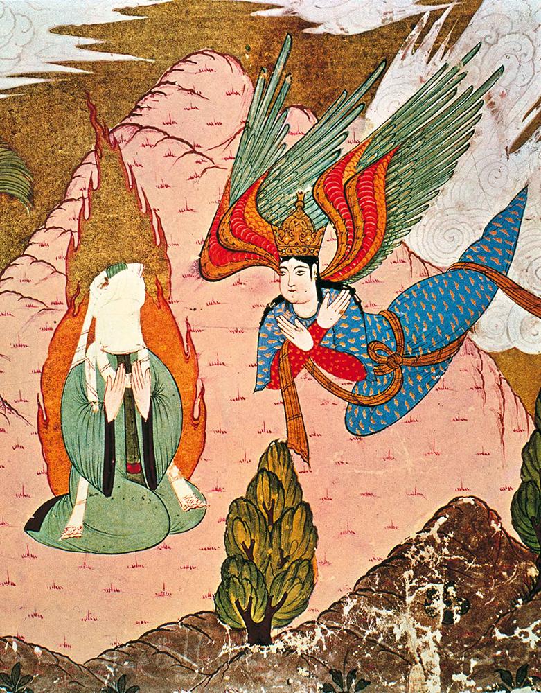 L'angelo Jibril davanti a Maometto