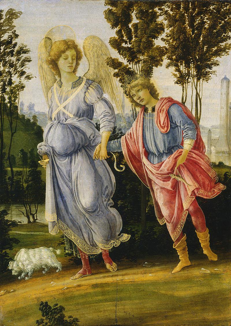 Filippino Lippi, Tobia e l'angelo