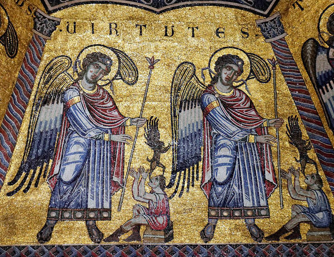 Mosaici del battistero di Firenze. Virtù