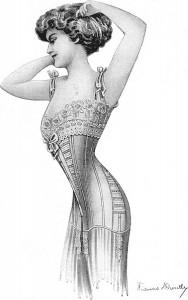 Il corsetto ad Esse tra la fine dell'Ottocento e gi inizi del Novecento