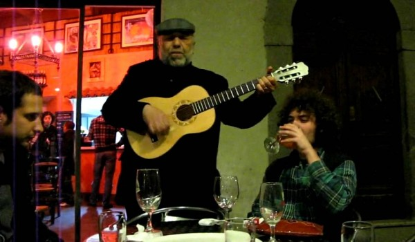 Pino Masi in una delle tante sonate cittadine