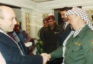 Pino Masi con Arafat, Bagdad 1990
