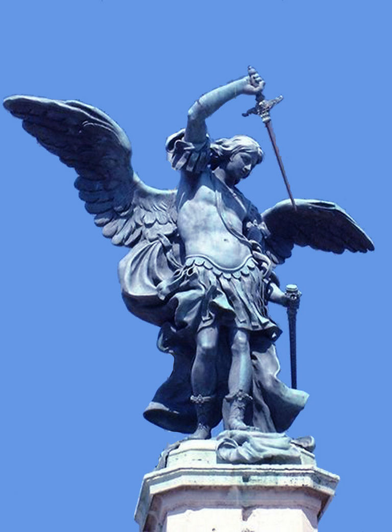 L'arcangelo Michele rinfodera la spada