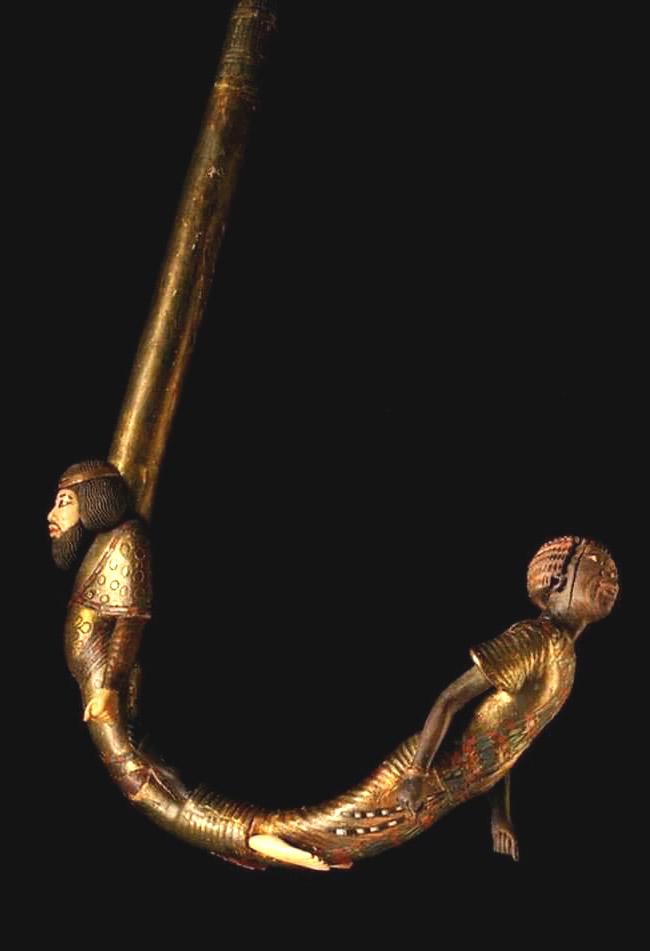 Manico di uno dei bastoni da passeggio