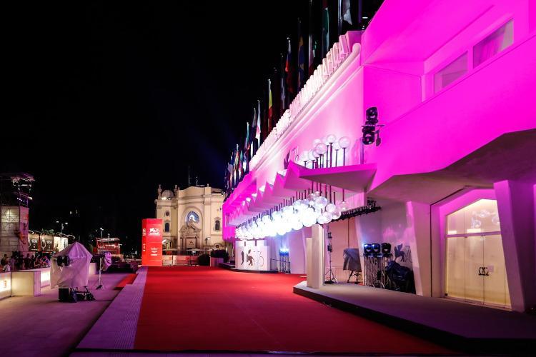 Il palazzo del cinema a Lido di Venezia