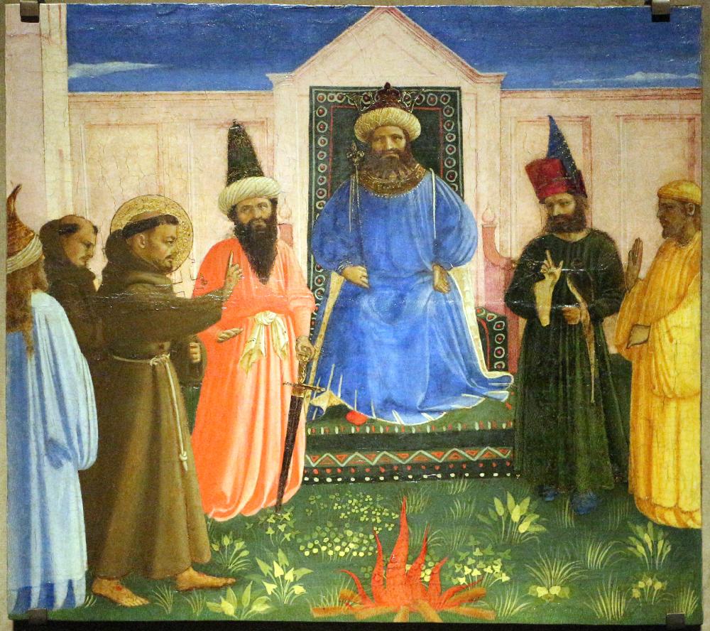 Fra Angelico. San Francesco e la prova del fuoco davanti al sultano