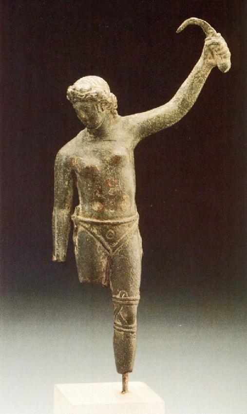 Statuetta di gladiatrice