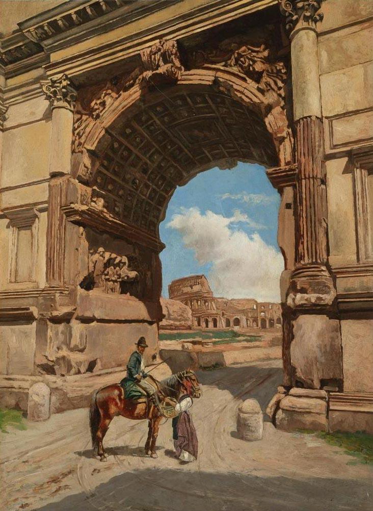 Stefan Bakałowicz. Arco di Tito e Colosseo